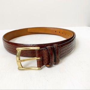 Trafalgar Mock Leather Brown Embossed Belt